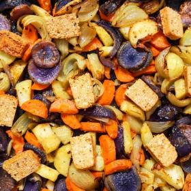 La recette ultra rapide de légumes rôtis au tofu rosso
